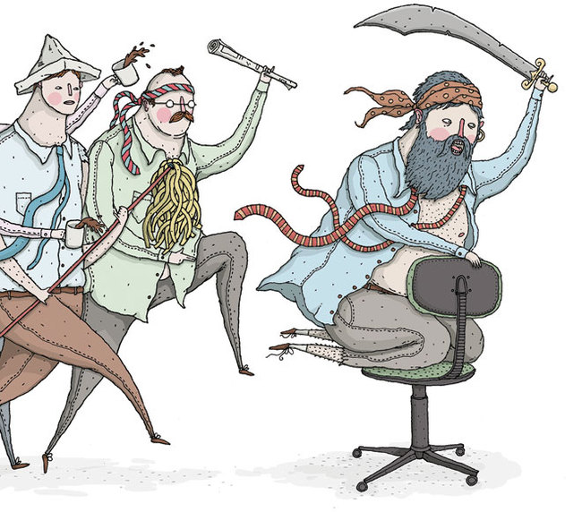 To all desperate worker-drones: Try a little swashbuckling Illustration: David Galletly
