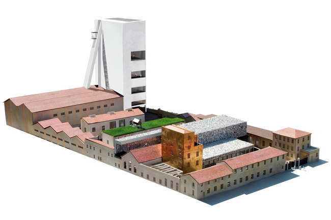 rendering of new Prada Foundation arts complex in Milan - designed by OMA