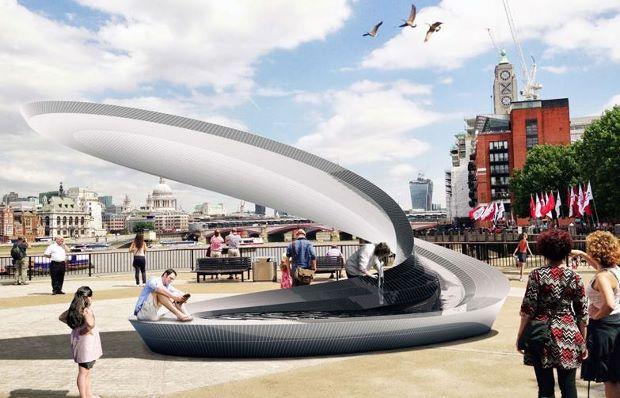Zaha Hadid Architects' water kiosk (Image via phaidon.com)