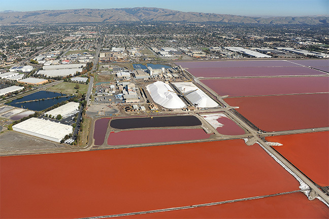 Cargill Salt, © Center for Land Use Interpretation from Around the Bay- Man-Made Sites of Interest in the San Francisco Bay Region (Blast Books)