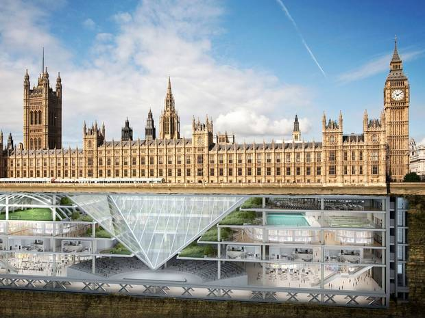 An expert panel of architects and researchers predicts that the future of Britain's architecture will happen (to an extent) underground. (Image via independent.co.uk)