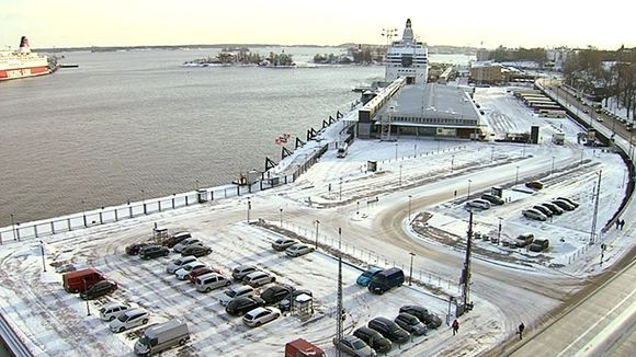 The reserved Guggenheim plot is adjacent to the Tallink-Silja terminal in the South Harbour of Helsinki. (Image: Yle)