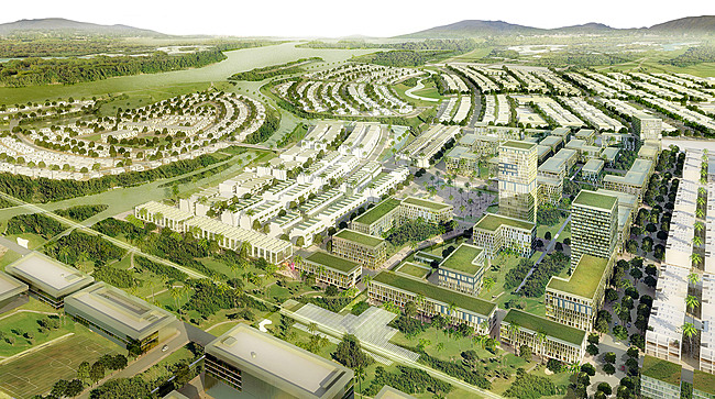 Competition-winning Master Plan for the Golden Hills development in Danang, Vietnam (Image: SOM)