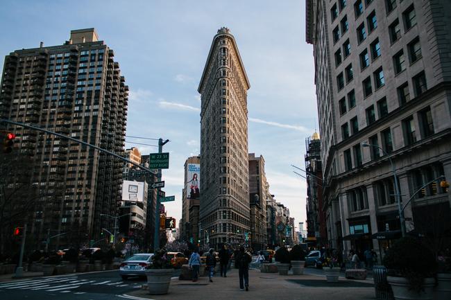 A view of the hyper efficient, odd-lot shaped, landmark Flatiron Building. Image: therisenyc.com