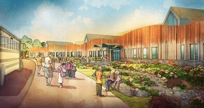 The new Sandy Hook school. Credit: Svigals+Partners