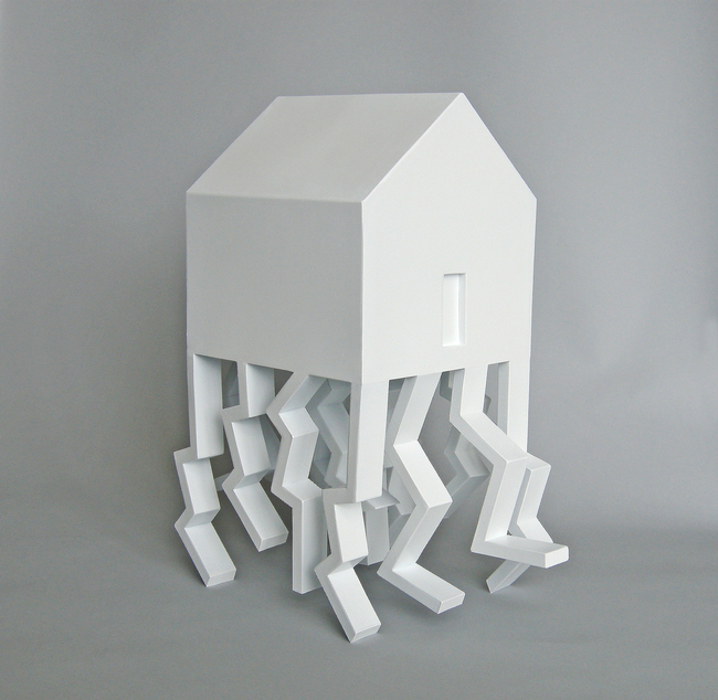 The House As A Metaphor- (Walking House) by Michael Jantzen