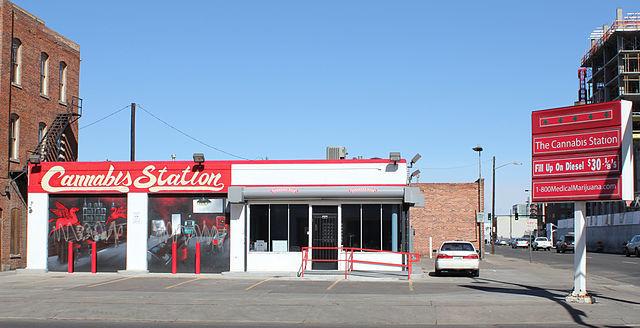 Cannabis Station, a medical marijuana dispensary in Denver. Photo: Jeffrey Beall, via Wikipedia.
