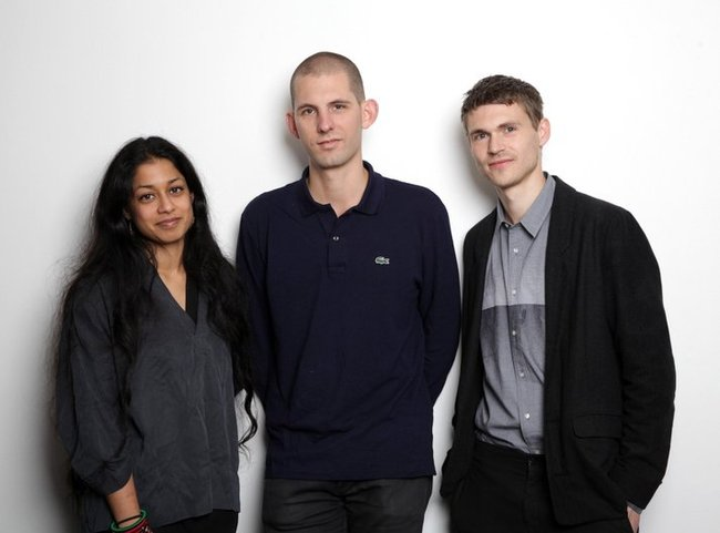 The curatorial team of the British Pavilion for the 2016 Venice Biennale: Shumi Bose, Jack Self, Finn Williams. Credit: British Council