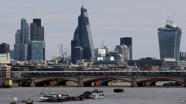 The Cheesegrater skyscraper is the tallest in the City of London (via bbc.com)