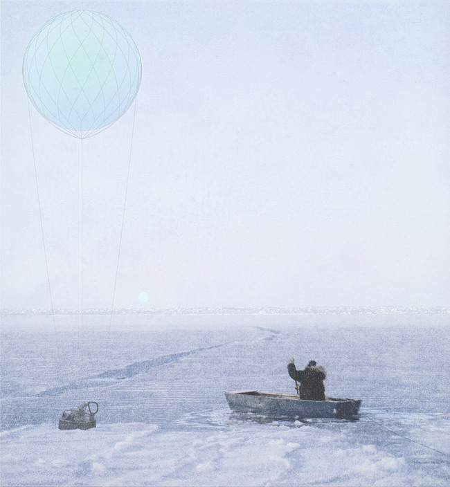 The visual impact of the balloon begins to disappear in spring. Fisherman can access the equipment for maintenance checks after the long winter.