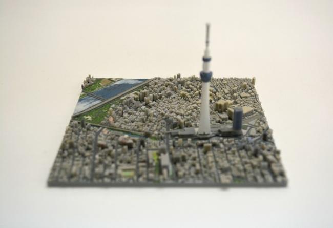 3D printed segment of Tokyo. Image: Kickstarter