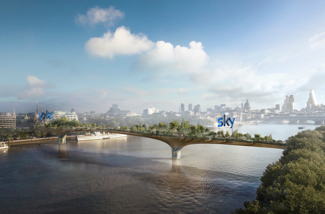 A rendering of the Garden Bridge by Heatherwick, with some minor adjustments by the author. Credit: Heatherwick Studio