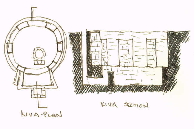 Kiva Plan and Section