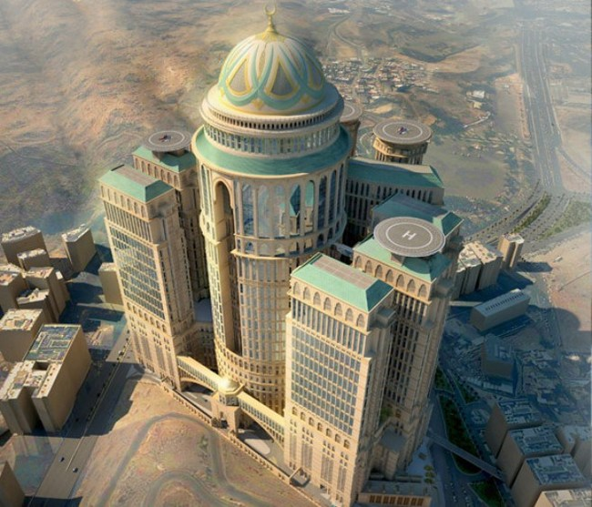 "A face only a developer could love: the Abraj Kudai hotel with its 10,000 rooms, helipads and ""royal floors"" is currently rising up from the ground about a mile away from the Kaaba."