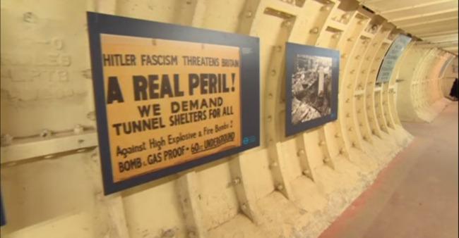 Vintage sign demanding shelter (image via the BBC)