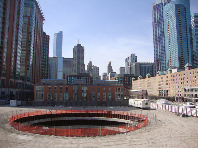 Site of Chicago Spire, via flickr/Tom Ravenscrodt.