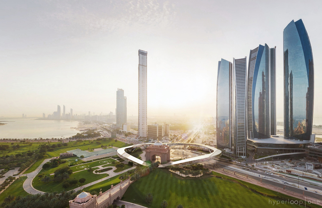 Station design for Hyperloop One's Dubai proposal, courtesy of Hyperloop One.