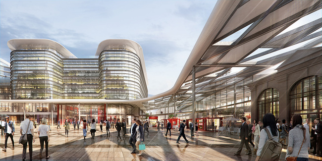 Foster + Partners wins Cardiff Interchange competition. Image credit: Foster + Partners.