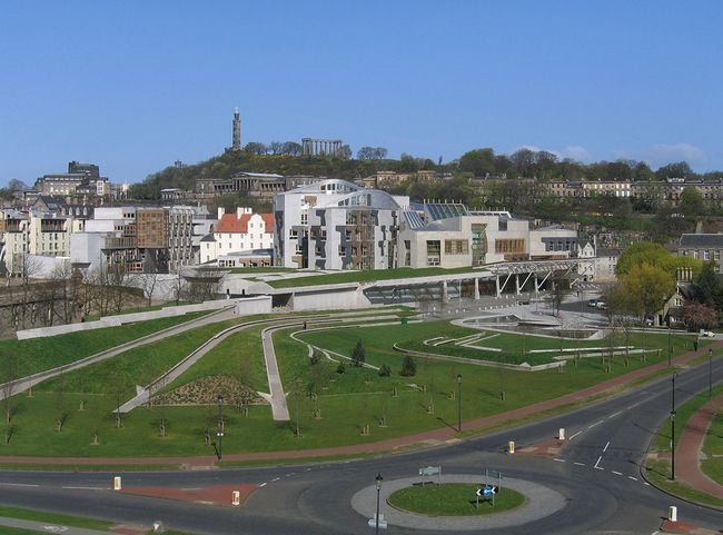 The controversial Scottish Parliament Building designed by Enric Miralles could soon be the home of an independent nation. Credit: Wikipedia
