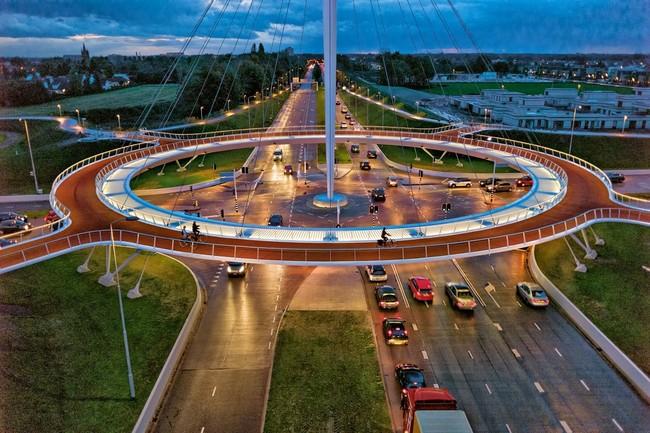 Eindhoven's Hovenring, via huffingtonpost.ca.