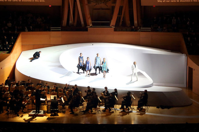"Opening night of ""Così Fan Tutte"" at Walt Disney Concert Hall in Los Angeles. (The New York Times)"
