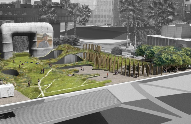 An image from the proposal by Eric Owen Moss Architects. Credit: Eric Owen Moss Architects via City of Los Angeles