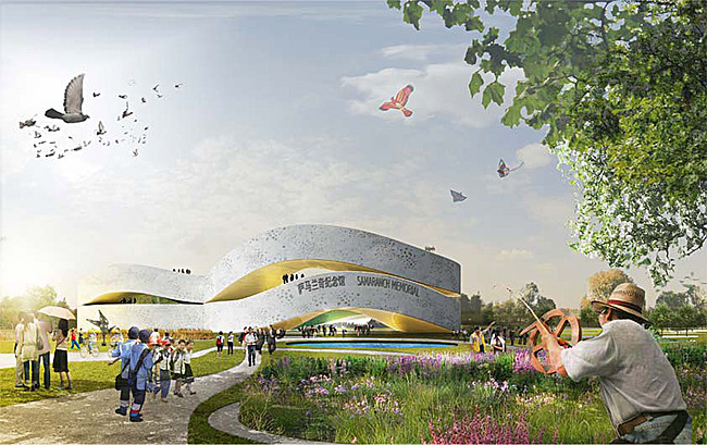 Competition-winning design for the new Samaranch Memorial Museum in Tianjin, China