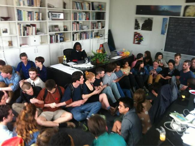 Students Occupying Cooper Union President's Office