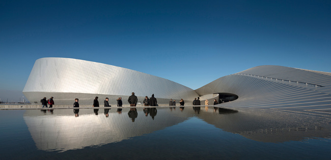 Shortlisted in the Display Category: The Blue Planet in Denmark by 3XN (Photo courtesy of World Architecture Festival)