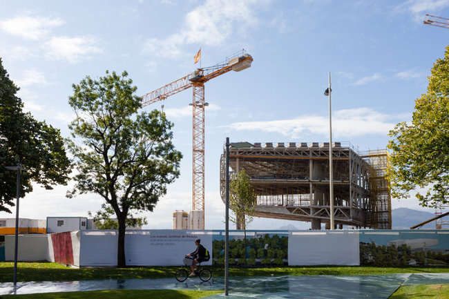 The Centro Botín under construction in Santander, on the northern coast of Spain. The center is scheduled to open next year. Credit: Markel Redondo for the The New York Times