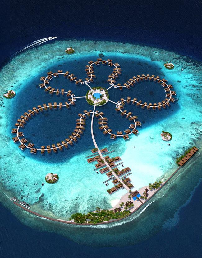 """""""Ocean flower"""", courtesy of Koen Olthuis / Waterstudio.NL—Dutch Docklands / dutchdocklands.com, via The Atlantic Cities."""