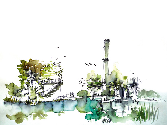 Holcim Awards for Europe - Gold: Anthropic Park Freshwater ecological reserve and remediation, Saline Joniche, Italy. (Copyright: Grupo aranea)