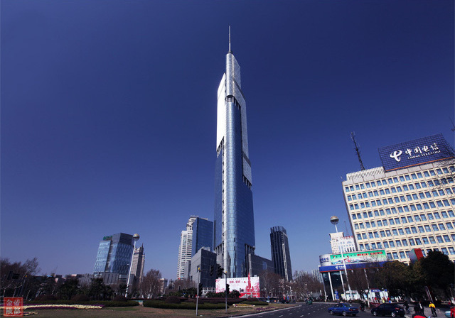 The supertall shadowmaker, Zifeng Tower in Nanjing. (Image via shanghaiist.com)