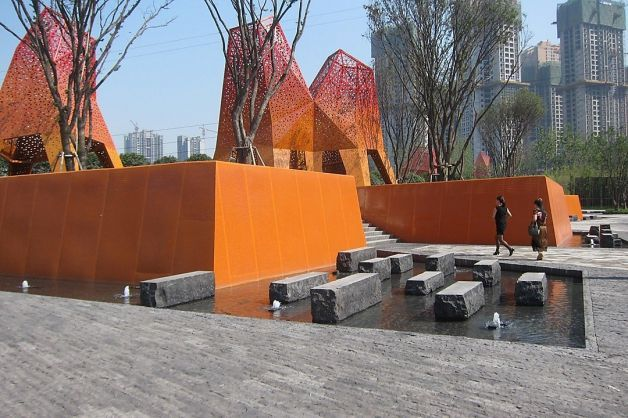 Fengming Mountain Park in China is by Martha Schwartz. (SFGate; Photo: Martha Schwartz Partners)