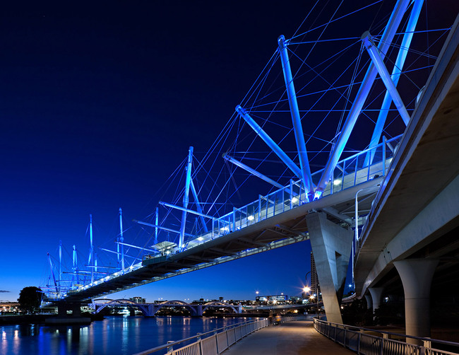 World Transport Building of the Year: Kurilpa Bridge, Brisbane, Australia, Cox Architecture/ Cox Ryaner Architectects, Australia
