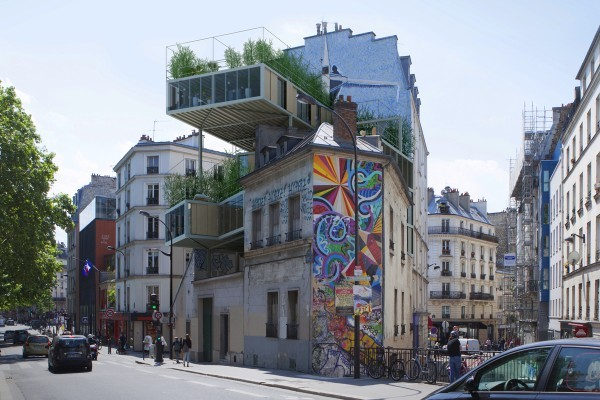 Stéphane Malka Architecture has developed an interesting approach to deal with Paris' housing woes. Credit: Stéphane Malka Architecture