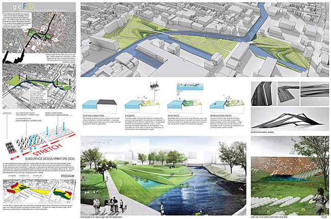 Honorable Mention: Gowanus Canal Filter District; Team: burkholder|salmons; Members: Sean Burkholder, Dylan Salmons