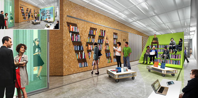 EFGH: Bookstore with media mode inset