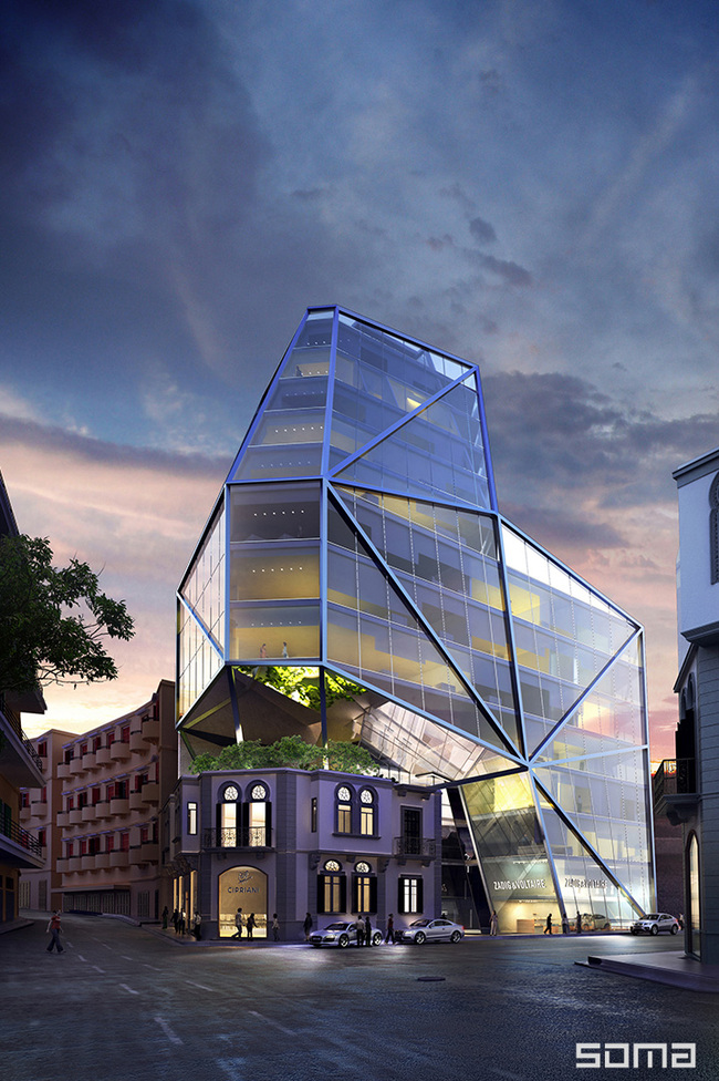 SOMA Architects' upcoming BOBO residential project in Beirut. Image courtesy of SOMA Architects.