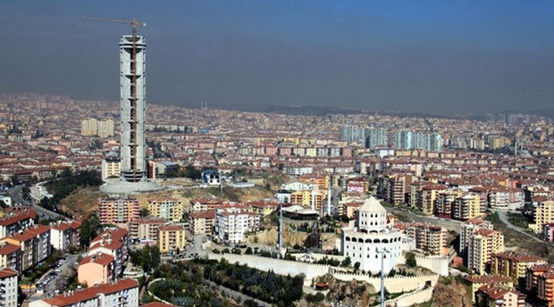 No zoning for you: after 144 m/472 ft built and $10M spent, the fate of Ankara's Republic Tower has now been sealed. (Image via bgnnews.com)