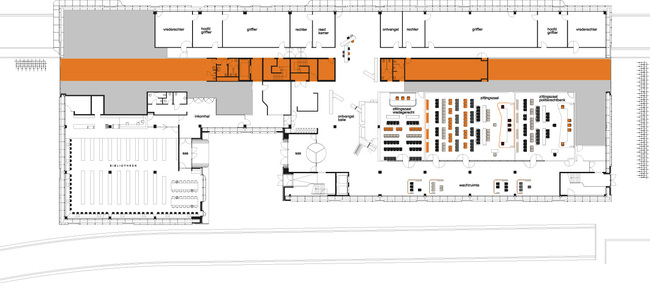 Floor plan 0. Image courtesy of J. MAYER H. Architects