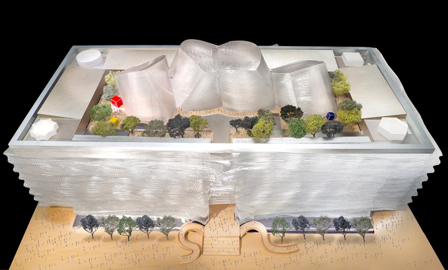 National Art Museum of China courtesy of Gehry Partners (View of roof garden)