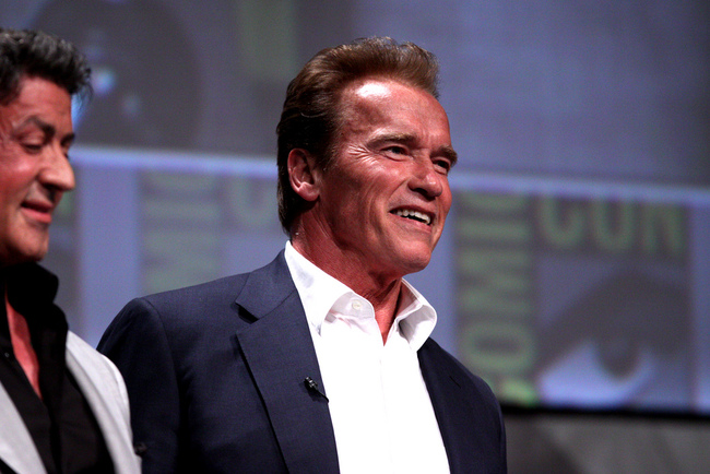 Arnold Schwarzenegger is best known for his roles as the Terminator and as the Governor of California. Credit: Flickr