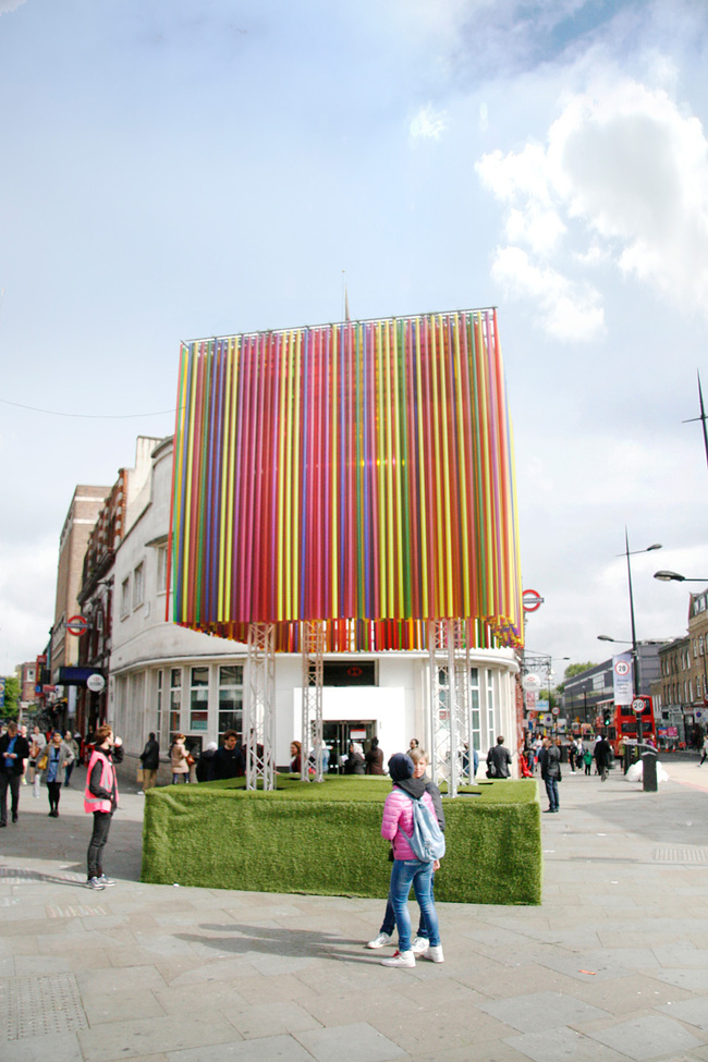 Camden Town Pavilion by KSR Architects at the first Camden Create Festival. Photo: KSR Architects