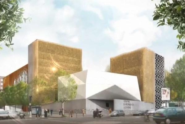 Rendering of the proposed Centre Européen du Judaïsme in Paris. (Image via theartnewspaper.com)