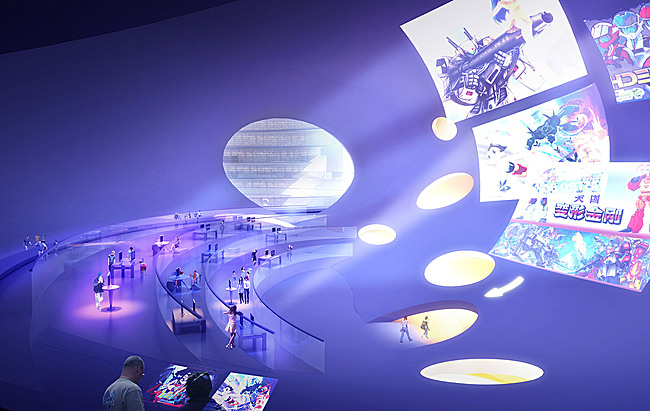 Visualization, interaction hall © MVRDV