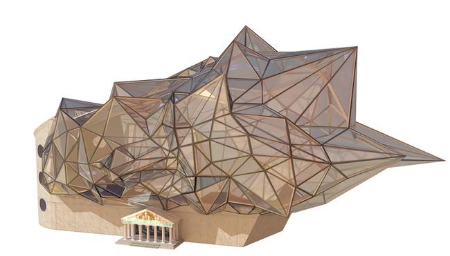 A digital render of the Digital Museum of Digital Art (DiMoDA). Credit: DiMoDA via Hyperallergic