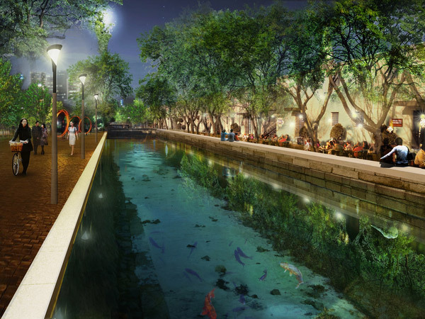 Heritage view © West 8 urban design & landscape architecture