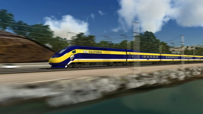 Artist's rendering of the proposed bullet train via Wikipedia