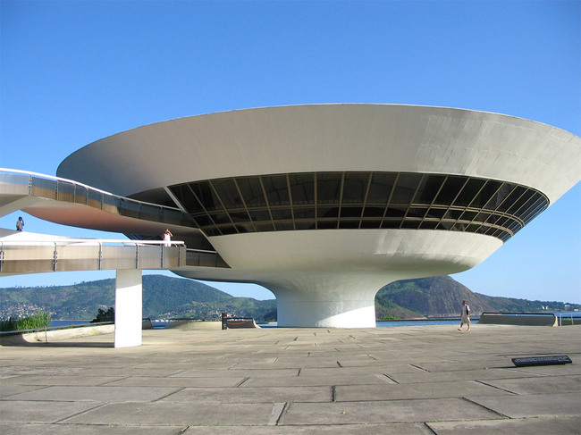 The Niterói Contemporary Art Museum, Rio de Janeiro, completed in 1996